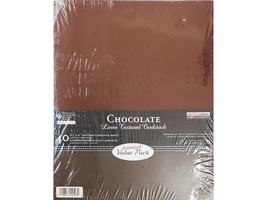 """The Paper Company Chocolate Linen Textured Cardstock, 8.5"""" x 11"""", 40 Sheets"""