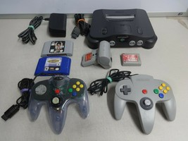TESTED Grey Nintendo 64 N64 Video Game Console System OEM Controller Games ++++ - $158.39