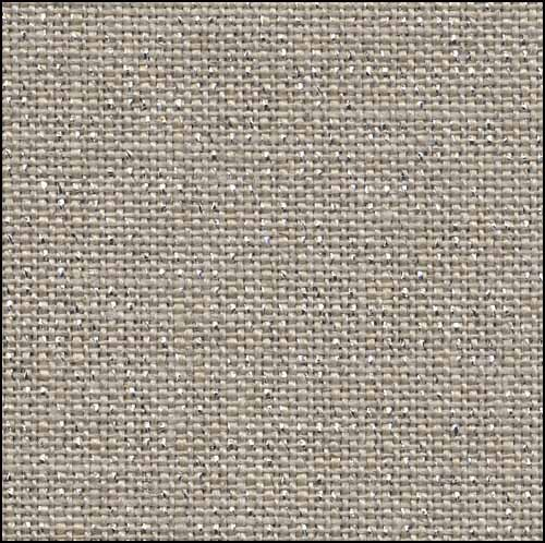 Primary image for 32ct Raw Linen / Silver Belfast linen 13x18 cross stitch fabric Zweigart