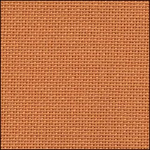 25ct Orange Lugana evenweave 36x27 cross stitch fabric Zweigart - $24.30
