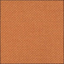 25ct Orange Lugana evenweave 18x27 cross stitch fabric Zweigart - $9.45