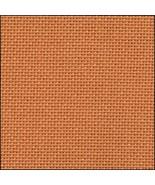 25ct Orange Lugana evenweave 18x27 cross stitch... - $9.45