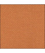 25ct Orange Lugana evenweave 13x18 cross stitch fabric Zweigart - $6.00