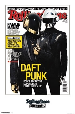 Daft Punk Rolling Stone Cover Art Poster