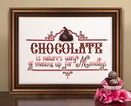 Chocolate Monday cross stitch chart Kit & Bixby - $8.10