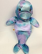 "Build A Bear Under The Sea Dolphin 18"" Blue Purple Mermaid Puppet Plush ... - $14.11"