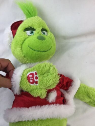 Build A Bear BAB Dr Seuss Grinch The Movie 2018 Stuffed Plush With Sound Box  image 6