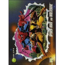 1992 Marvel Universe Series 3 Spider Man And Wolverine #74 - $0.20