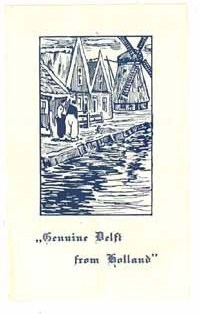Delft pottery advertising brochure vintage china