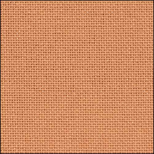 32ct Orange Clementine Lugana evenweave 36x27 cross stitch fabric Zweigart