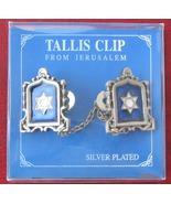 Star of David silver plated Jerusalem TALIT CLIPS tallis talis tallit shawl - £9.79 GBP