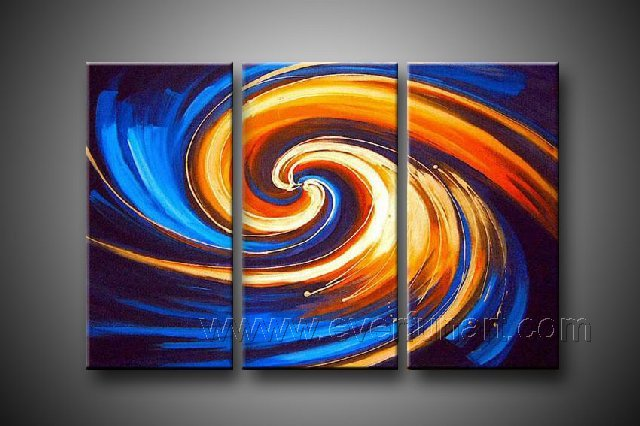 Framed Genuine Hand-painted Wall Decor Modern Abstract Oil Painting On Canvas