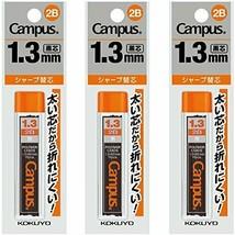 KOKUYO-stationery-Mechanical pencil core 1.3mm 2B 3pac PSR-C2B13-1PX3 - $9.15