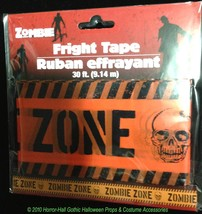 Walking Dead Warning-ZOMBIE ZONE-Fright Caution Tape Halloween Party Pro... - $3.93