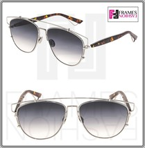 CHRISTIAN DIOR TECHNOLOGIC Palladium Havana Grey Gradient Flat Sunglasse... - $287.10