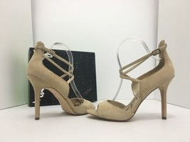 Sam Edelman Audrey Nude Suede Leather Women's High Heels Sandals Size 8.5 M - $39.29