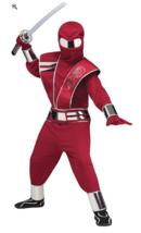 Kids Fire Mirror Ninja Costume Cosplay Dress Up Medium Red - $16.82