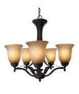 ce-5lt chandelier rustic iron - $118.80