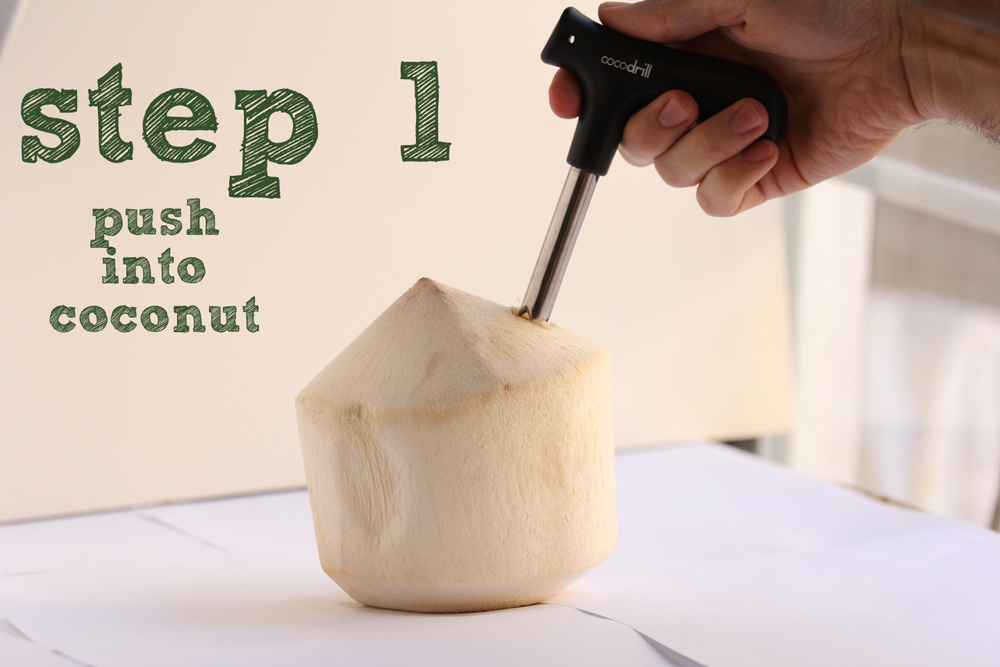 Coconut Tool Opener Young Coco Water punch tap drill opening hole Open Cut knife