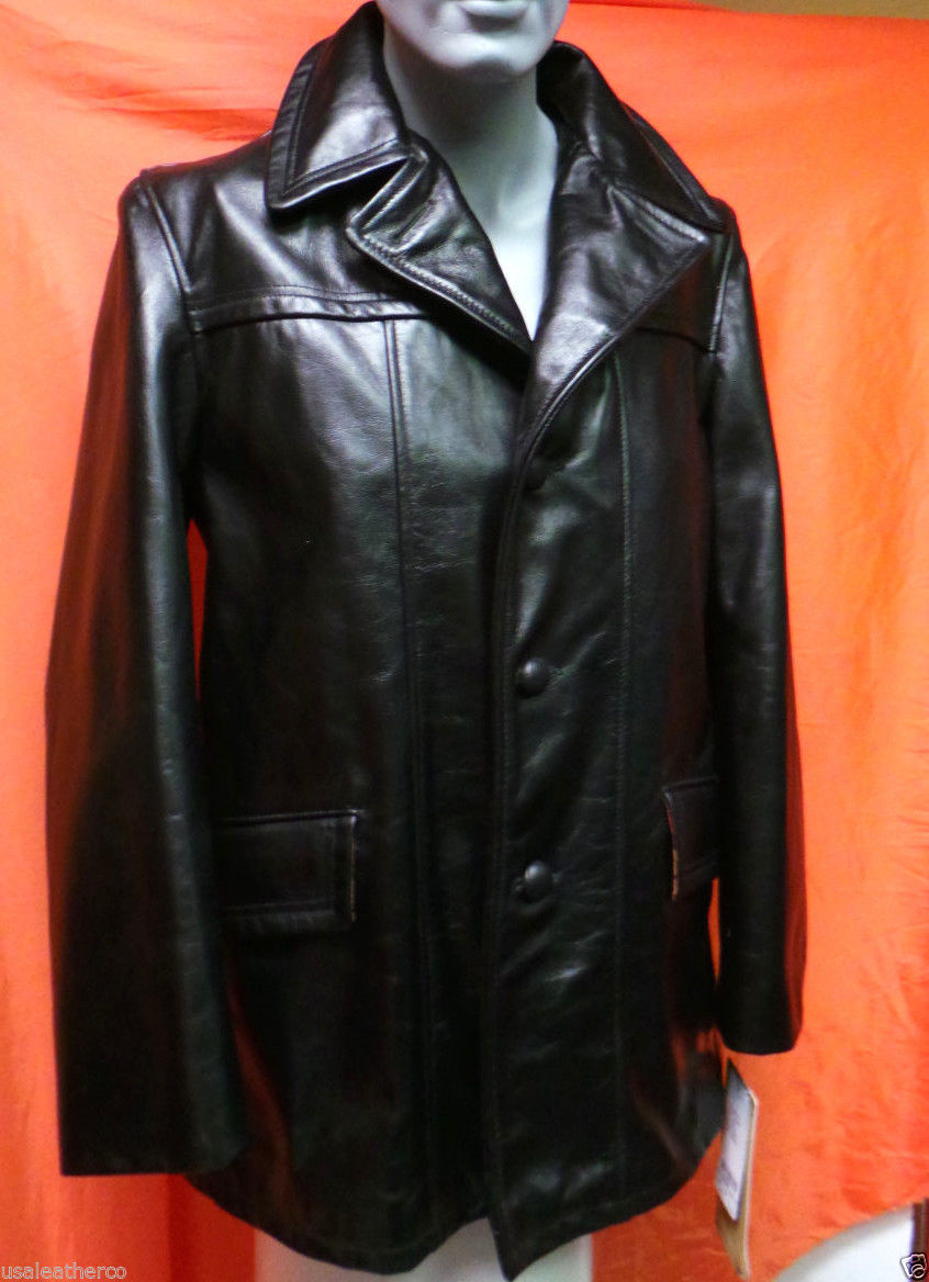 Schott Nyc 645 B Lac K Waxy Car Coat Size and 40 similar items