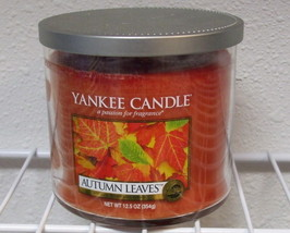 Yankee Candle New Autumn Leaves Medium Jar Candle 12.5 oz - $12.00