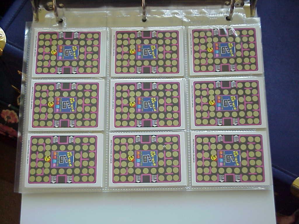 Pac-Man Fleer Stickers & Rub-offs Item #527 1980