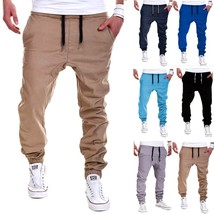 Jamickiki New Fashion Pure Color Men's Casual Pants, Feet Pants, Sport P... - $22.44