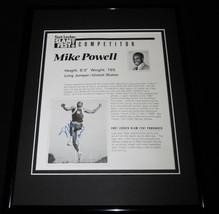 Mike Powell Signed Framed 11x14 1991 Foot Locker Slam Fest Photo Display - $60.41