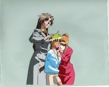 """Neo Ranga """"Minami, Joel, Woman"""" Anime Cel * NEORANGA (0022)"""