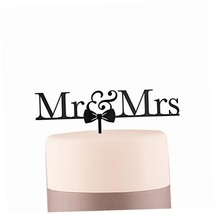 Weddingstar Mr.  Mrs. Bow Tie Acrylic Cake Topper, Black - $9.77
