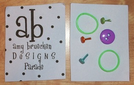 EMBELLISHMENT PACK for Halloween Parade cross stitch chart Amy Bruecken Designs - $5.00