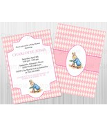 Pink Peter Rabbit Birthday or Baby Shower Custom Invitation: Personalized - $1.25