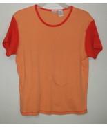 Womens North Crest Orange Short Sleeve Top Size XL - $3.95