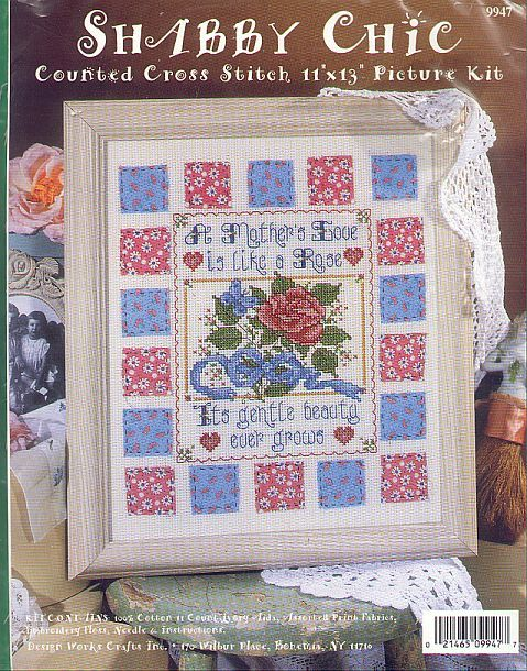 Shabby A Mother's Love Chic Cross Stitch Kit