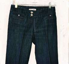 "Womens CHICO'S Platinum Blue Jeans with Seamed Creases 28x32"" SIZE 4  - $8.00"
