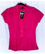 """PASSPORT CRANBERRY PINK  BLOUSE NWT  SIZE SMALL BUST 38"""" LENGTH 23""""  Cotton - $7.95"""
