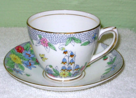 Rosina Bluebell Cup & Saucer Vintage Item on Bonanza  - $12.95