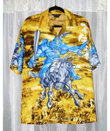 "Fantasy OSCAR MISA Polyester Shirt Size Small Chest 46"" Length 30.5""  - $5.00"
