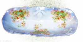 Antique Turn of the Century Lusterware Asparagus Dish Germany  - $14.95