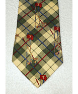 TOMMY HILFIGER Golf Pattern Tie Italian Silk Made in USA  - $5.00