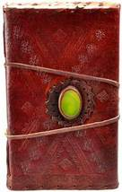 """5 1/2"""" x 9"""" God's Eye Leather Blank Book with cord (Stone Slightly Off C... - $28.95"""