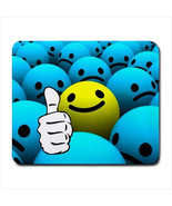 SMILE BALL EMOTICON COMPUTER LAPTOP MOUSE PAD MATS MOUSEPAD - £6.12 GBP