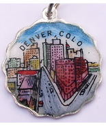 DENVER COLORADO Silver Enamel Shield Bracelet C... - $45.61