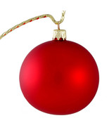 Matte Red Glass Christmas Ornament. (Made in Slovakia) - $13.05