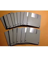 "15 Fifteen 3.5"" BLANK HD 1.4Mb PC Formatted FLOPPY DISKS~ Never Used~ FR... - $15.93"