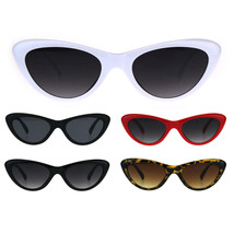 Womens Vintage Goth Narrow Cat Eye Plastic Sunglasses - $9.95