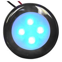 Aqua Signal Bogota 4 LED Round Light - Blue LED w/Stainless Steel Housing [16405 - $33.84