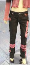 PePe pink decal black Denim jeans - $29.69