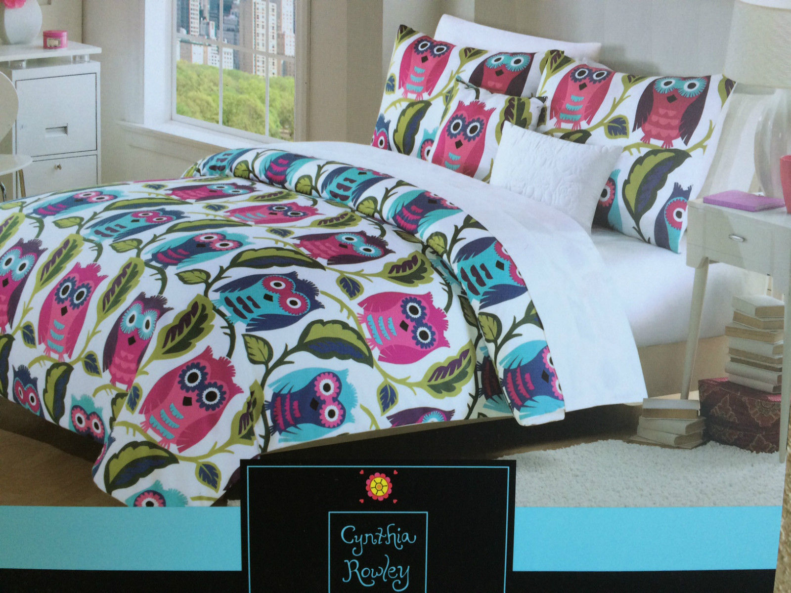 Cynthia Rowley Owls F Queen Comforter Set And 50 Similar Items