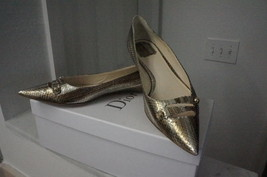NEW Christian Dior Gold/Silver Snake Embossed Ballerina Flats IT40.5/US10-10.5 - $380.00